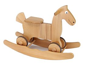 Wooden Rocking And Ride On Horse Toy - children's room