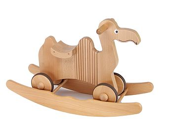 Wooden Rocking And Ride On Camel Toy
