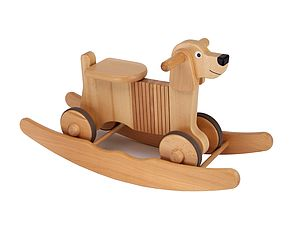 Wooden Rocking And Ride On Dog Toy - toys & games