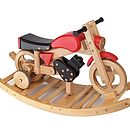 Wooden Rocking And Ride On Trainer Bike