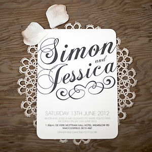 Vintage Style Wedding Stationery Set - invitations