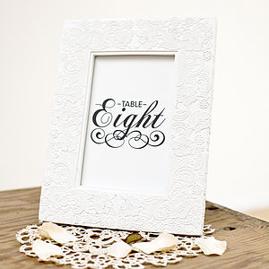 Set Of 10 Wedding Table Number Cards - wedding stationery