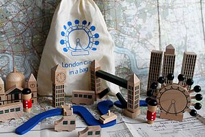 London In A Bag Wooden Play Set - stocking fillers