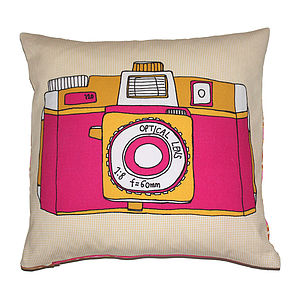 Camera Illustration Cushion Holga - cushions