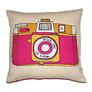 Camera Holga Cushion Pink