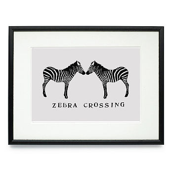 Zebra Crossing Signed Print