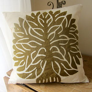 Tree Of Life Linen Cushion - cushions