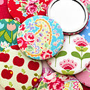 Mixed Set Of Floral And Patterned Pocket Mirrors