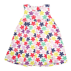 Galaia Flower Print Cotton Dress