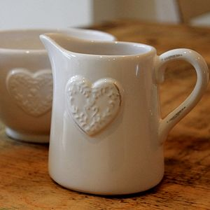 Ceramic Jug With Heart Detail