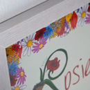 Persoanlised Fairy Initial Print Frame Close-Up
