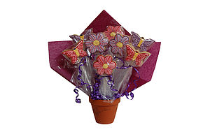 Flowers And Butterflies Biscuit Bouquet - food & drink gifts