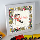 Personalised Pirate Initial Framed Example