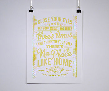 Personalised New Home Poster