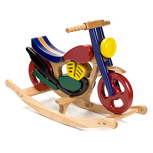 Mirage Wooden Rocking Bike - traditional toys & games