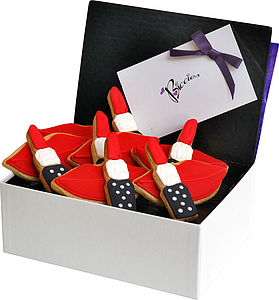 Lips And Lipsticks Biscuit Box - food & drink gifts