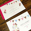 Vintage Inspried Fete -Front & Back with complimenting pink envelope