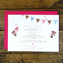 Vintage Inspried Fete -Back Details with complimenting pink envelope