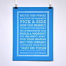 Personalised 'Superhero' Poster