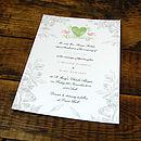 Vintage Birdcage Invitation -Front with Pistachio & Pink details