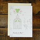 Vintage Style Birdcage Wedding Invitation