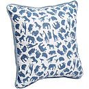 Safari Blue Print Cushion