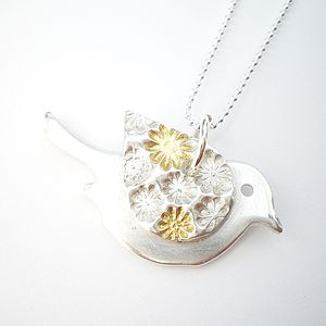 Floral Bird Pendant - necklaces & pendants