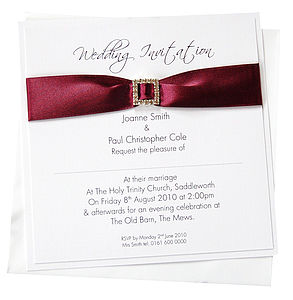 Elegance Single Sided Wedding Invitation