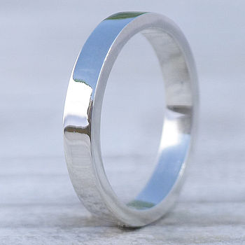 Handmade Rectangular Sterling Silver Ring