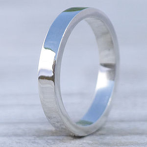 Handmade Rectangular Sterling Silver Ring - rings