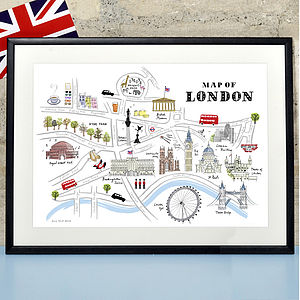 Alice Tait 'Map Of London' Print - personalised