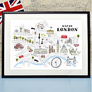 Map Of London Print