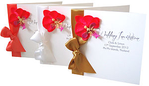 Orchid Kiss Tropical Wedding Invitations - wedding stationery