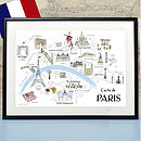 Map Of Paris Print