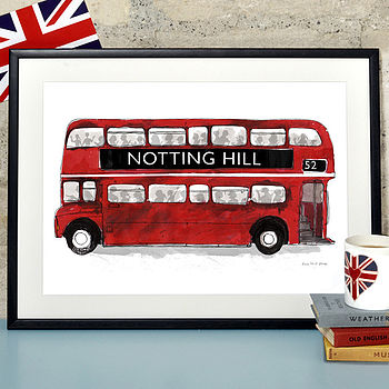 Alice Tait 'Notting Hill London Bus' Print