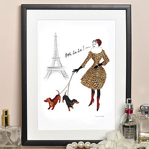 'Ooh La La' Print - shop by recipient