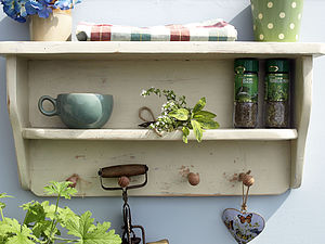 Farmhouse Peg Shelf Rack - home decorating