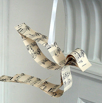 Handmade Song Bird Sheet Music Decoration