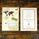 Love Travel Postcard Invitation - Front & Back