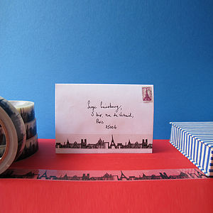 Paris Skyline Decorative Sticky Tape 25mm