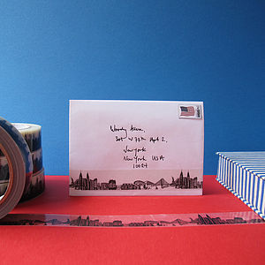 New York Skyline Decorative Sticky Tape 25mm