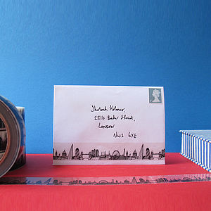 London Skyline Decorative Sticky Tape 25mm