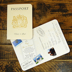 Passport To Love Invitation - wedding stationery