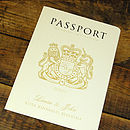 UK Passport Cover in Cream