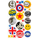 Pop Art Fabric Wall Stickers