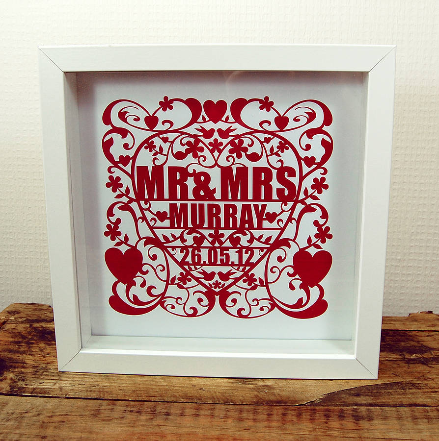 love and marriage personalised art print by ditsy chic ...