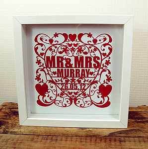 Love And Marriage Personalised Art Print