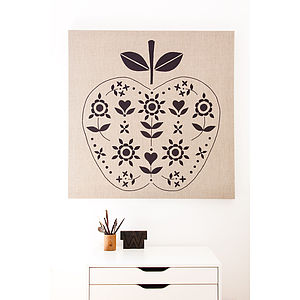 Appliqued Apple Wall Hanging