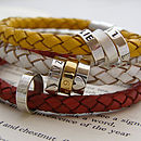 Personalised Leather Hoops Bracelet