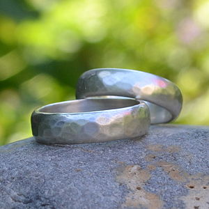 Handmade Silver Wedding Ring - rings